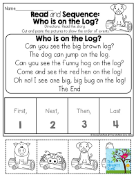 sequencing worksheet kindergarten u0026 free printable english