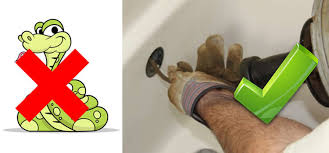 how to unblock your bath or shower drain drench the bathroom simply feed the snake down the drain or if you re clearing a bathtub blockage you will need to feed the snake down the overflow opening