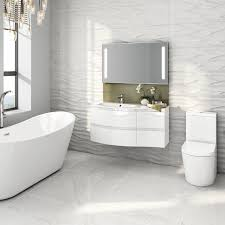 Modern Vanity Units For Bathroom by Modern White Vanity Unit Curved Bathroom Furniture Sink Basin Wall