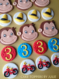 curious george cupcakes custom cakes by julie curious george cake cupcake toppers