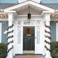 exterior modern front door wreath for christmas entry doors