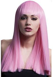 alexia wig in baby pink fever fancy dress collection escapade uk