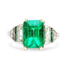 art deco emerald ring skulptura art