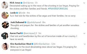 celebrities react to u0027horrible u0027 las vegas shooting daily mail online