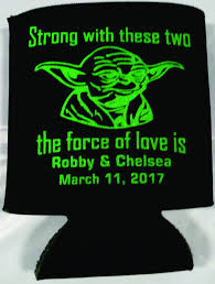 wedding koozies yoda wedding koozies wars the of party favors can
