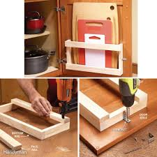 What To Put On End Tables by 18 Inspiring Inside Cabinet Door Storage Ideas Family Handyman