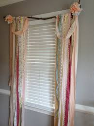 Shabby Chic Voile Curtains Shabby Chic Rustic Rag Curtain Window Treatment By Ohmycharley