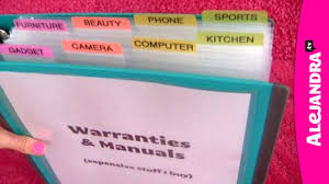 video how to organize warranties manuals u0026 receipts