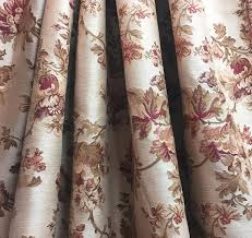Upholstery Weight Fabric Floral Fabric Woven Cotton Floral Upholstery Medium Weight
