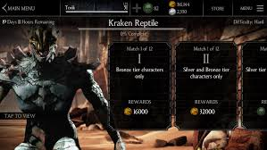 Challenge Fatality Kraken Reptile Challenge Available Mortal Kombat X Mobile Mortal