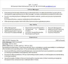 Sample Office Resume by Sample Product Manager Resume 8 Download Documents In Pdf