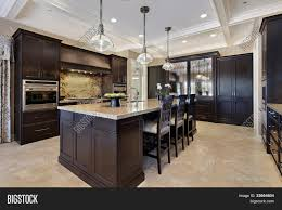 luxury kitchen upscale home dark image u0026 photo bigstock
