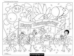 happy thanksgiving day parade coloring page for ecoloringpage