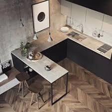 cuisine noir laqué plan de travail bois univers cuisine noir laque plan de travail bois kitchens cuisine