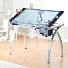 plateau verre bureau plaque en verre pour bureau bureau rectangulaire avec plateau verre