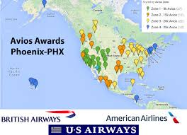 Phx Airport Map Us Airways Flights Using British Airways Avios Out Of Phoenix Phx