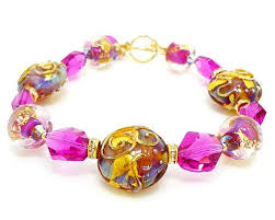 pink glass bead bracelet images Lampwork bracelets collection beadz and more handcrafted jpg