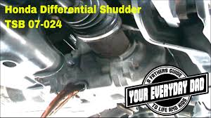 how to fix honda cr v rear end differential shudder vibration