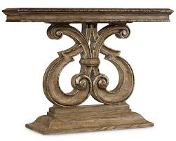 hooker furniture console table hooker furniture solana console table with shapely pedestal base
