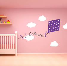 28 personalised wall sticker girls name wall decal sticker personalised wall sticker personalised kite and clouds wall sticker by oakdene personalised wall sticker
