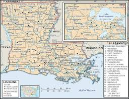 louisiana map with counties state and parish maps of louisiana