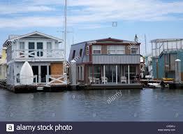 floating houses floating homes key west harbor florida usa stock photo royalty