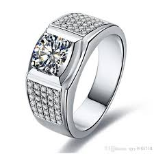 diamond man rings images 2018 1ct man ring excellent round synthetic diamonds ring for men jpg