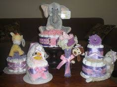 Baby Monkey Centerpieces by Safari Jungle And Monkey Diaper Cakes Baby Shower