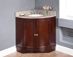 Corner Bathroom Vanity Cabinets Wood Contemporary Corner Bathroom Vanity In Sink Designs 13