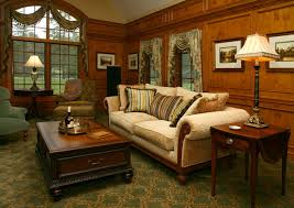 Interiors By Decorating Den Old World Library Traditional Living Room Cleveland By