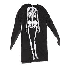 adults printed skeleton costume men women scary ghost halloween