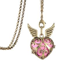 s day locket minimal s day gifts vintage heart locket with two wings