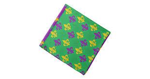 green mardi gras mardi gras green gold and purple fleur de lis bandana zazzle
