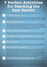 7 perfect activities to teach the past perfect poster