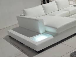 Modern Bonded Leather Sectional Sofa Tosh Furniture Modern White Compact Bonded Leather Sectional Sofa