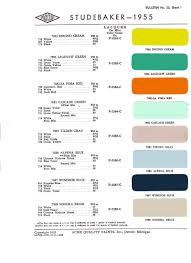 Old Ford Truck Paint Colors - studebaker color charts