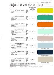 studebaker color charts