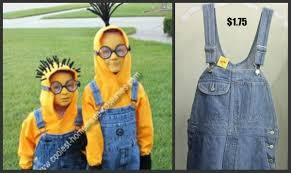 despicable me 2 minions halloween costume thrift store style