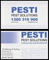 pest business card design galleries for inspiration