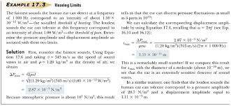 intensity of periodic sound waves sound levels waves