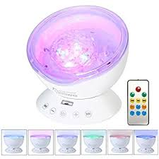 Rotating Night Light Projector Umiwe Remote Control Ocean Wave Projector Rotating Night Light