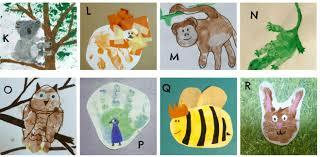 abc animal handprints
