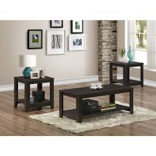 monarch specialties cappuccino 3 piece nesting end side table set