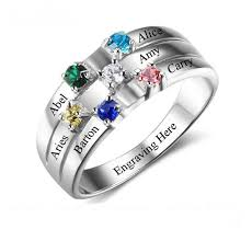 mothers ring 6 ribbon band s family ring think engraved