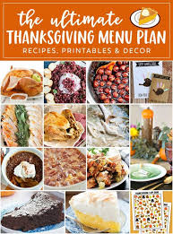 thanksgiving meal plan recipes reluctant entertainer