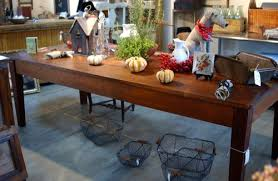 large vintage farm harvest dining table 8ft rustic industrial