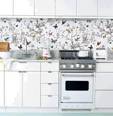 wallpaper ideas for kitchen a wallpaper splashback wallpaper glass to add colour to the