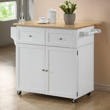 wildon home carol kitchen island with butcher block top