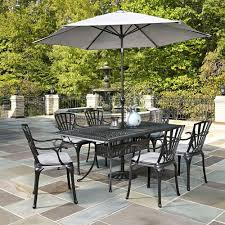Outside Patio Dining Sets - home styles largo 7 piece outdoor patio dining set with umbrella
