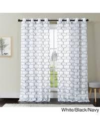 fall into savings on vcny khara embroidered sheer curtain panel